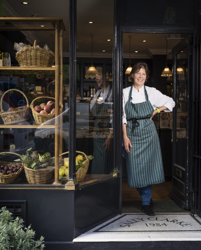 Sally at her Shop in Kensington